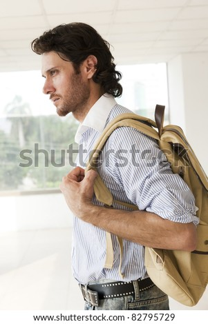traveler with a rucksack