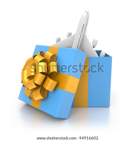 Traveling as gift - stock photo