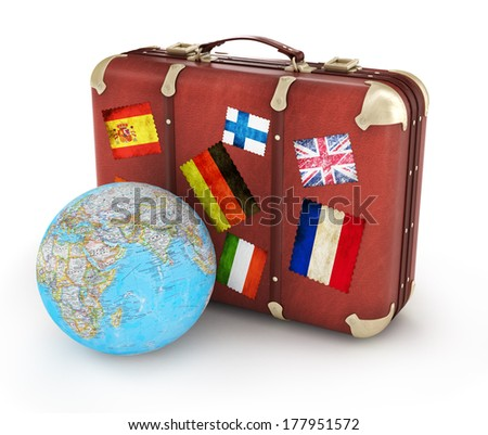 Traveling bags - stock photo