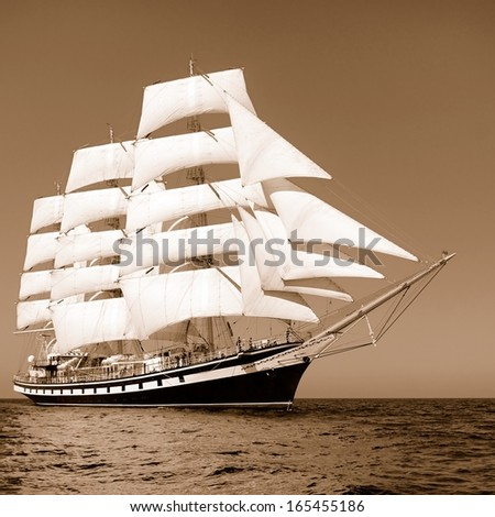 Traveling by ship - stock photo