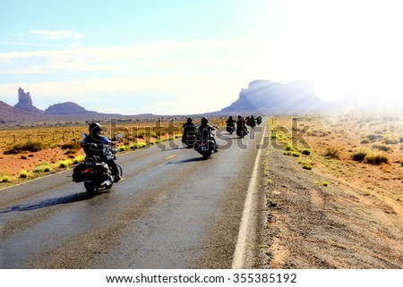Traveling in Monument Valley - stock photo