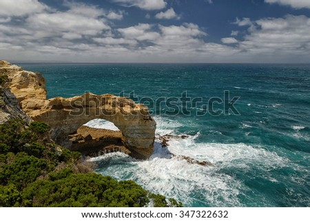 travelling along the Great Ocean Road, Victoria, Australia - stock photo