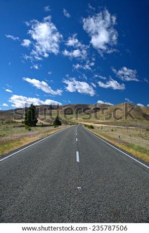 travelling the South Island, New Zealand - stock photo