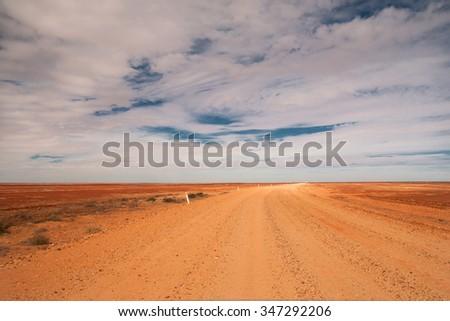 travelling the Sturt Stony Desert, South Australia, Australia - stock photo