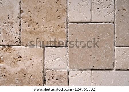 travertine tiles  texture - stock photo