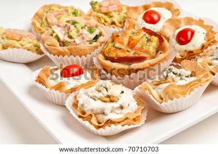 Volauvent stock images royalty free images vectors for Puff pastry canape