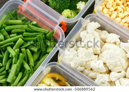 Vegetables Storage Containers Trays raw vegetables freezing stocking winter stock photo safe to trays with raw vegetables for freezing stocking up for winter storage in plastic containers workwithnaturefo