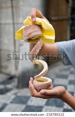 Trdelnik street pastry - stock photo
