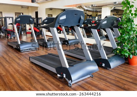 Treadmills - stock photo