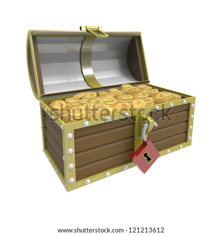 Treasure chest OPEN