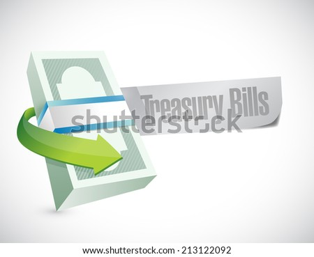 treasury bill illustration design over a white background - stock photo