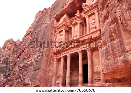 Treasury in Petra,Jordan - stock photo