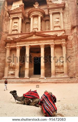 Treasury of Petra, Jordan - stock photo