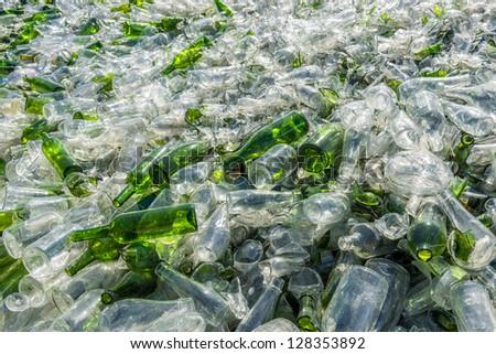 treatment of glass - stock photo