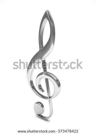 treble clef 3d on white