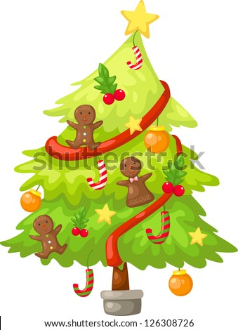 tree christmas . jpg (EPS vector version id 126059309,format also available in my portfolio) - stock photo