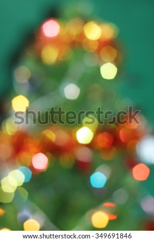 Tree Christmas light bokeh decorate holiday abstract background - stock photo