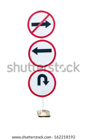 tree circle traffic sign isolated - stock photo