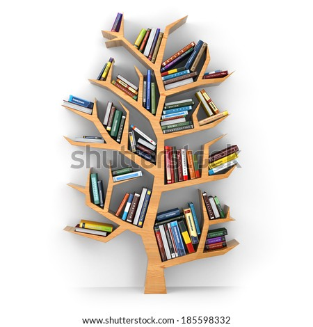 Tree of knowledge stock images royalty free images for Tree of life bookshelf