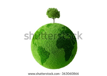Tree on the globe
