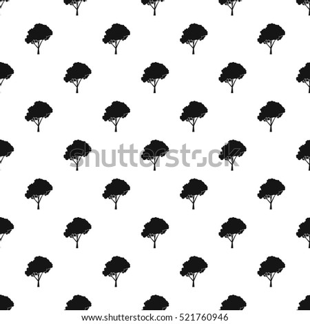Tree pattern. Simple illustration of tree  pattern for web