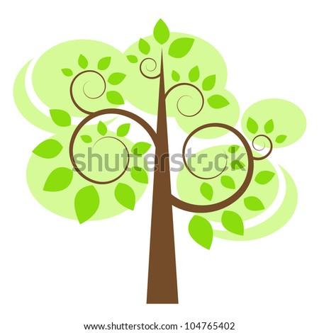 tree. Raster version - stock photo