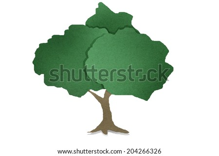 tree  recycled paper - stock photo