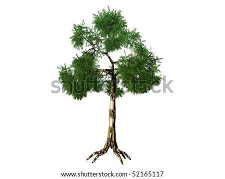 tree rendered on white