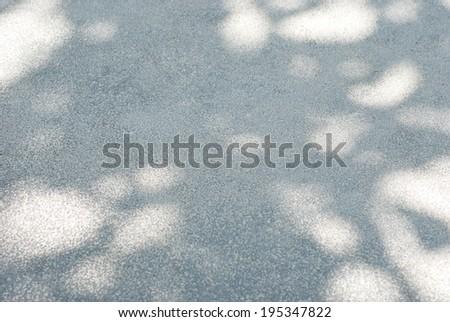 Tree shadow on cement floor. - stock photo