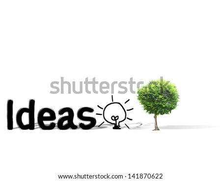 Tree shaped and a Ideas - stock photo