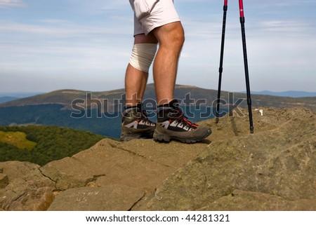 trekking shoes - stock photo