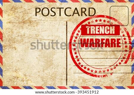 trench warfare sign - stock photo