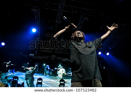 TRENCIN,SLOVAKIA - JULY 7: Flavor Fav of hip-hop group Public Enemy performs at the Bazant Pohoda Music Festival at the Trencin Airport in Trencin, Slovakia on July 7, 2012.
