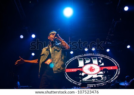 TRENCIN,SLOVAKIA - JULY 7: Hip-hop group Public Enemy performs at the Bazant Pohoda Music Festival at the Trencin Airport in Trencin, Slovakia on July 7, 2012.