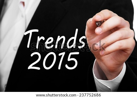 Trends 2015 concept - stock photo