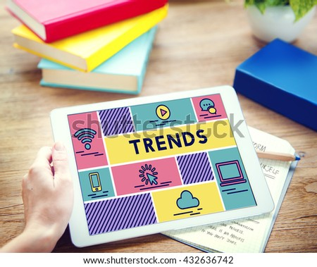 Trends Design Create Fashion Style Concept - stock photo