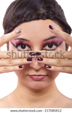 trendy cosmetic designs of make up and nail polish
