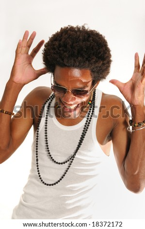 Trendy latino man with attitude - stock photo