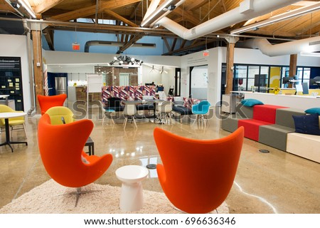 Loft office stock images royalty free images vectors for Open concept loft