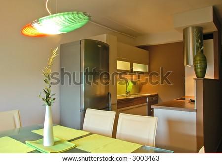 Trendy new Kitchen - stock photo