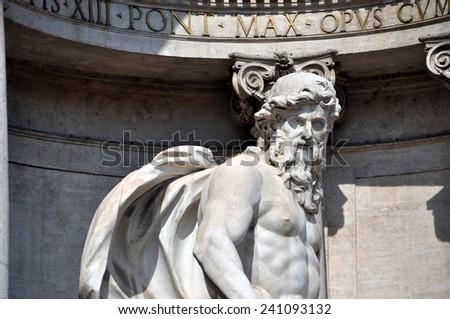 Trevi Fountain. Rome - Italy  - stock photo