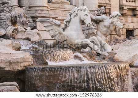 Trevi Fountain, Rome - Italy. Trevi Fountain (Fontana di Trevi) is one of the most famous landmark in Rome.