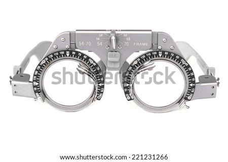 trial frame - eye glasses equipment       - stock photo