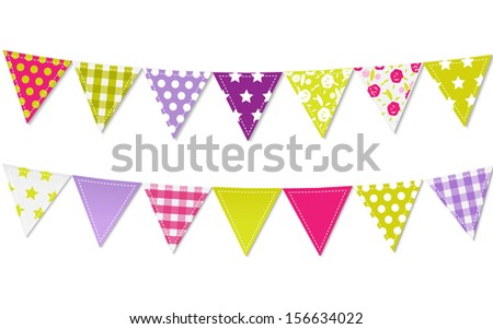 Triangle Bunting Flags - stock photo