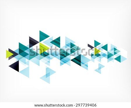 Triangle pattern composition, abstract background with copyspace.  illustration - stock photo