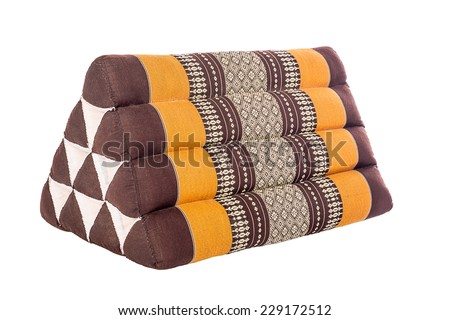 Triangle Pillow tradition native Thai style pillow.  - stock photo