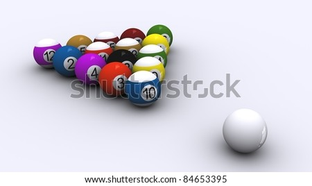 Triangle Pool Balls - stock photo