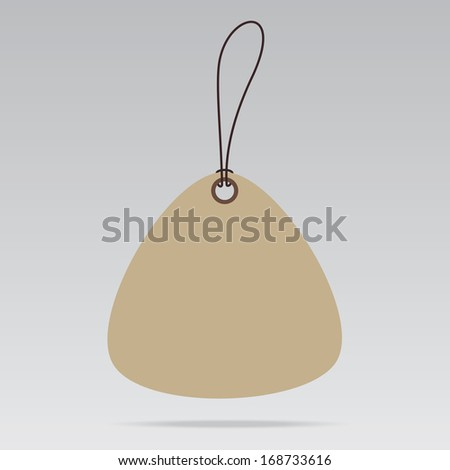 Triangle shape Blank Sale Tags or Price tags Design for business or e-commerce.