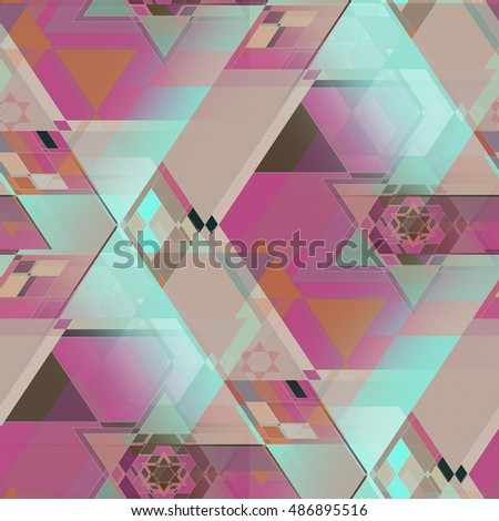 Triangles Pattern Abstract Color Composition