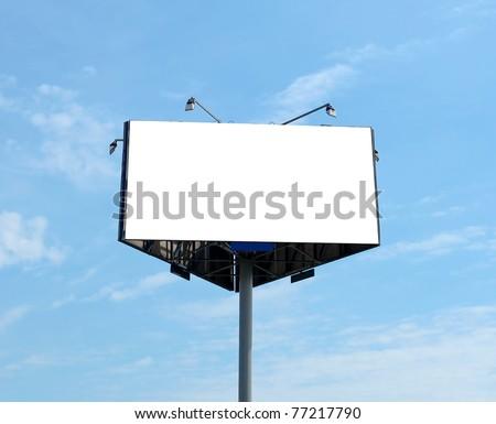 triangular big blank billboard outdoor - stock photo